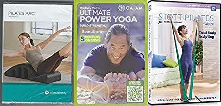 Intelligent Effective Body Betterment: Pilates Arc Workout – Balanced Body (Lizbeth Garcia) + Rodney Yee's Ultimate Power Yoga + Stott Pilates with Moira Total Body Sculpting 3 DVD BUNDLE