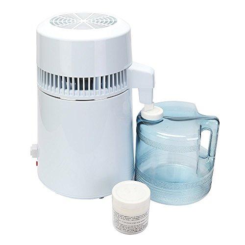 FurMune Wasser Destilliergerät Wasser Destiller Water Distiller 4L für Krankenhaus mit Wasserflasche Clinique Zuhause im BüRo auf Reisen im Labor
