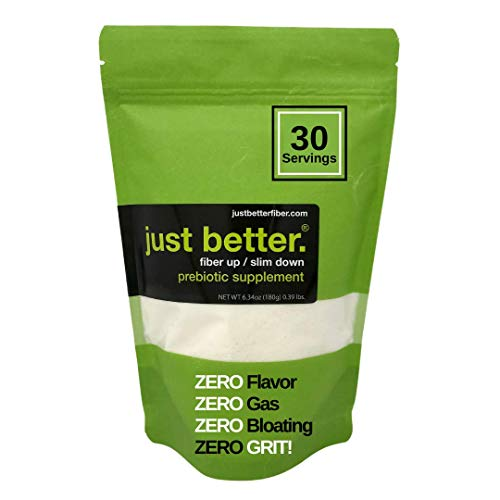 Prebiotic Fiber Supplement for a Healthy Gut | Fiber Powder with Zero Grit Zero Taste and No Bloating or Gas | Feel Full Faster | Keto Non-GMO Gluten Free Vegan 30 Servings