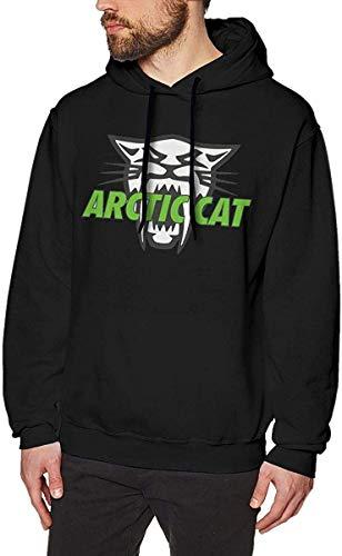Felpe con Cappuccio da Uomo Arctic Cat Cool Men's Hat And Pocketless Sweater Black