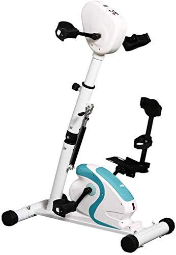 Entrenador De Pedales Terapia Física Electrónica Rehabilitación Bicicleta De Ejercicios Estacionaria, Máquina Ejercitador De Brazos Y Piernas para Discapacitados Trazo De 70 W Modo De Espasmo Interio