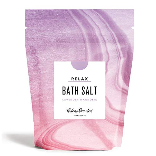 Edens Garden Lavender Magnolia Mineral Bath Salt (Made with Essential Oils, Epsom & Celtic Sea Salt - Great for Detox, Sleep, Immunity, Relaxation, Pain), 10 oz