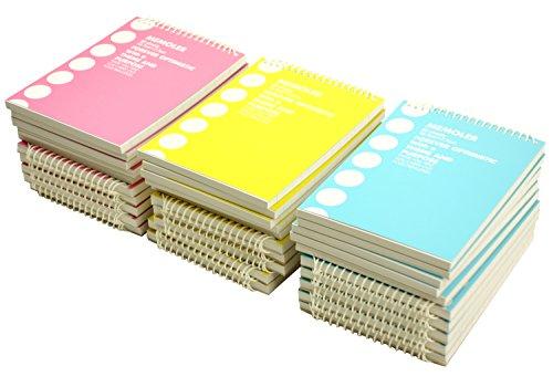 コクヨ メモ帳 ポケットメモ 詰合せ 青・ピンク・黄 各10冊 メ-300ツメ