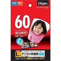 (業務用セット) インクジェット用紙 Digio デジカメ印画紙/強光沢 L判:60枚入 JPSK-L-60G【×5セット】