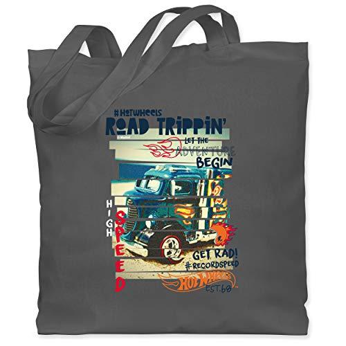Shirtracer Hot Wheels Tasche - Road Trippin - Unisize - Dunkelgrau WM101 - Stoffbeutel aus Baumwolle Jutebeutel lange Henkel