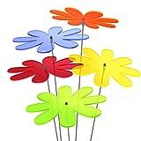 SUNPLAY Sonnenfänger Gänseblümchen im Farbmix, 5 Stück zu je 20 cm Durchmesser im Set + 70 cm Schwingstäbe