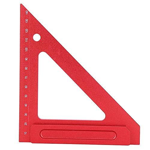 【4月の贈り物】木工三角定規、赤いアルミ合金の三角定規大工測定ツール150MM sj-1