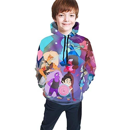 maichengxuan Stev-En Univ-Erse Novelty Youth Felpe con Cappuccio per Bambini Cool per Adolescenti
