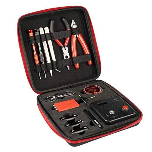 Walant Coil DIY Tool Kit V3, set di accessori Coil Master bobina Jig con avvolgitore (V4) / Mini linguetta 521 lettore Ohm/Brucelle/Filo resistente al calore