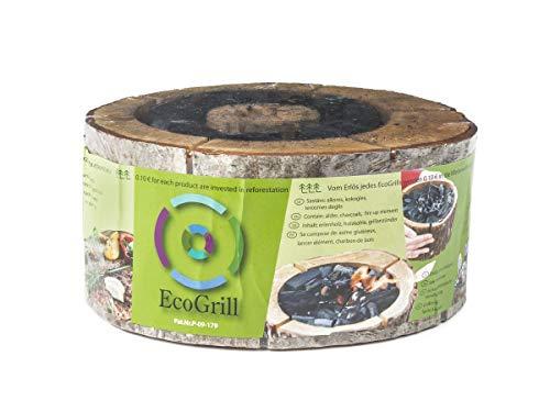 ECO Grill Einweg-Grill für den Außenbereich, aus Erlenholz und Holzkohle