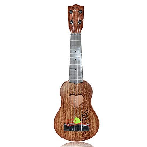 Kindergitarre, Musikinstrument für Klassische Gitarre, 4-saitige tragbare Minigitarre, Musikspielzeug für Kinder ab 3 Jahren