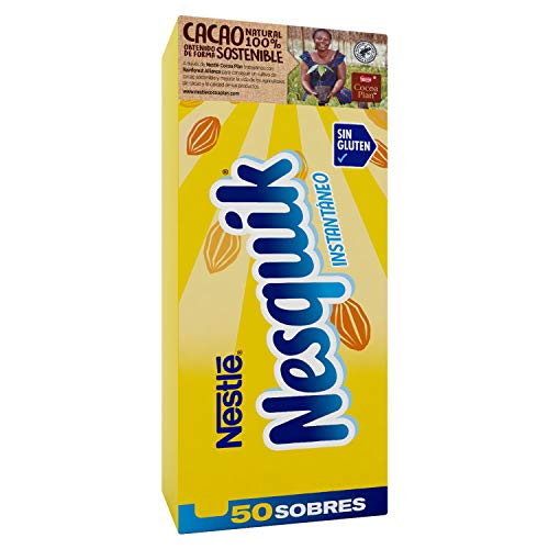 Nesquik cacao soluble instantáneo - 1 paquete x 50 sobres de 13,5 g - Total: 675 g