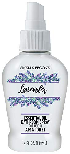 Smells Begone Essential Oil Air Freshener Bathroom Spray - Eliminates, Neutralizes and Purifies Air & Toilet Odors - Made with 100% Pure Essential Oils -Super Concentrated - 4 Ounces (Lavender)