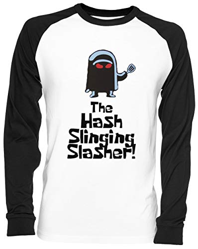 The Hash Slinging Slasher Weißes Baseball T-Shirt Unisex Größe XXL White Baseball Tee Unisex Size XXL