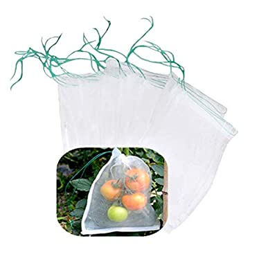 """Belit 10Pcs 23.6""""x15.7"""" Garden Netting pest Barrier Tomatoes Protection Bags Large Size Nylon Mesh Reusable Fruit Bags for Protecting Fruits Vegetables"""