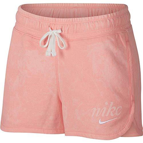 Nike Damen W NSW WSH Shorts, Bleached Coral/Summit White, M