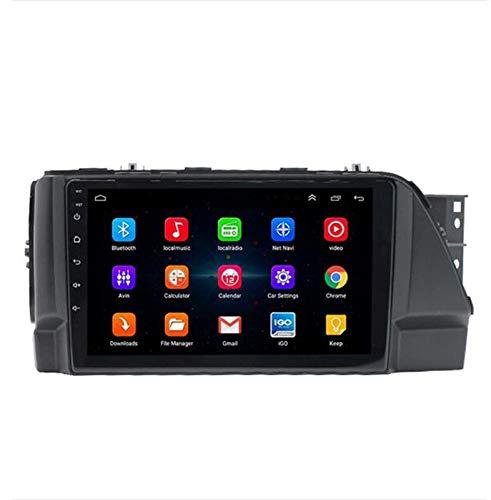 Android 9.1 8 Core 4G WiFi 32G 64G Multimedia für Hyundai Verna 2017+, Autoradio mit Rückfahrkamera/CarPlay, Unterstützung GPS/BT 5.0 / SWC/RDS/Spiegelverbindung, 4G WiFi 2G + 32G