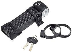 Trelock lock FS 300 Trigo-85 cm folding lock, black, 19.5 x 5.5 x 4 cm