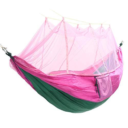 Hamaca de camping portátil doble mosquitero hamaca columpio cama para 2 personas colgante cama de dormir viajes camping hamaca de viaje