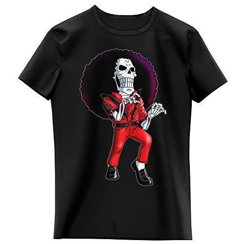 T-Shirt Enfant Fille Noir Parodie One Piece - Brook - Thriller !! (T-Shirt Enfant de qualité Premium de Taille 9-10 Ans - imprimé en France)