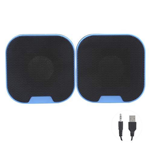Hyuduo1 Mini Altavoz Digital de Alta fidelidad portátil, Altavoz de Entrada de Cable estéreo ABS de 3,5 mm, Caja de Voz de Entrada estéreo USB de 3,5 mm de Escritorio R15