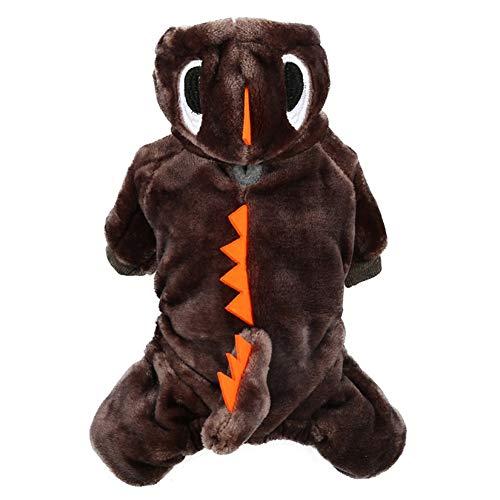 Wanyudz Abrigo de Perro dragón, Ropa de Jersey cálida, Sudadera con Capucha para Cachorros, suéter, Mono de Perrito de Chihuahua, Ropa