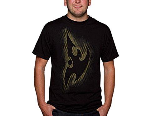 Starcraft II Protoss Grid Logo T-Shirt Herren Gamer Fan Shirt Baumwolle schwarz - S