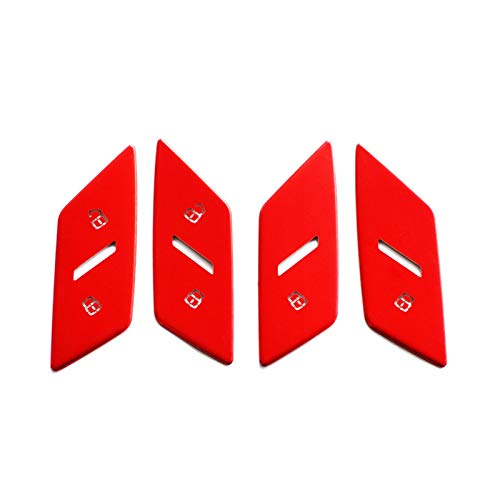 LIUWEI Ajuste Adecuado para Audi Q2L Coche Electronic Handbrake Puerta Bloqueo Central Control Botón Tapa Protectora Etiqueta de decoración Safety (Color Name : Door Lock Red)