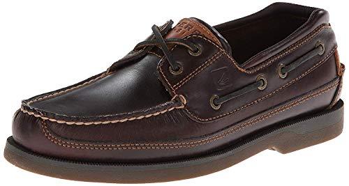 Sperry mens Mako 2-eye Boat Shoe, Amaretto, 10.5 Wide US