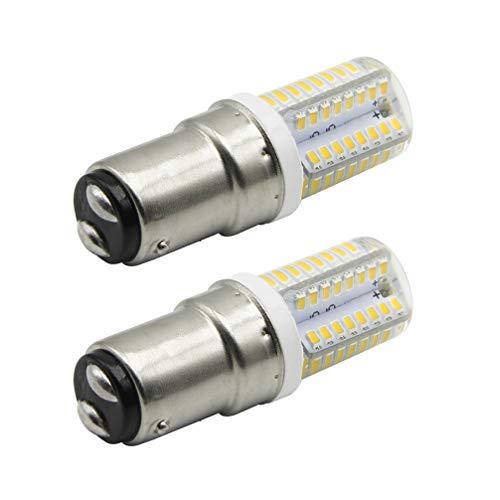 7117 2PCS BD15 4W High Quality Super Hell Warmweiß 3000K LED Glühbirne, 40W Halogen-Equivalent SBC Kleine Bajonett LED-Birnen, 12V Nicht dimmbar Für Nähmaschinen