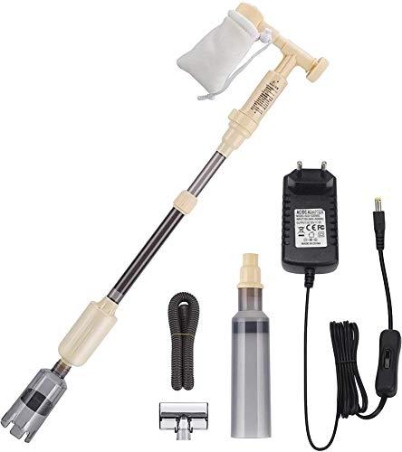 bedee Limpiador eléctrico de Grava para acuarios, Extractor de Lodos automático, Cambiador de Agua para Tanques de Plantas de Peces, Voltaje Seguro de 12V 18W, Flujo de Agua Ajustable, 2020 diseño