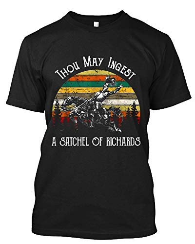 Get Now Vintage Trend Thou May Ingest A Satchel of Richards T Shirt Gift Tee for Men Women Black