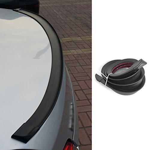 Auto heck Spoiler, 1,5m/4.9ft Universal Auto Gummi Streifen Bar Spoiler Tailfin Tail Fin Rear Wing Heckklappe Schrägheck für die beliebtesten Autos