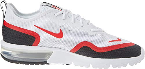 Nike Herren Air Max Sequent 4.5 Se Leichtathletikschuhe, Mehrfarbig (White/University Red/Black/Wolf Grey 000), 46 EU