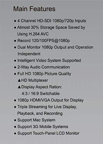iCATCH 1080P 4 Channels DVR HD-SDI CCTV DVR Security System Detection H.264 Digital Video Recorder, Security SDI Camera System