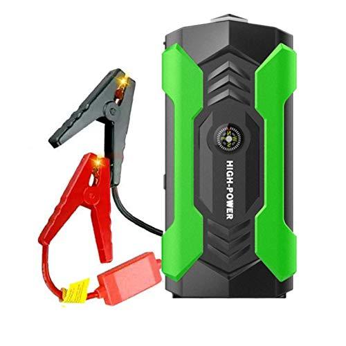 400A Peak 20000mAh Lithium Starthilfe Powerbank(bis zu 6L Benzin, 4L Dieselmotor) Tragbares AutoladegeräT Schnellladung mit Eingebautem 4 Licht Lichtschutz,Green