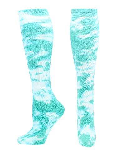 Tie Dye Multisport Tube Socks (Teal/White, Small)