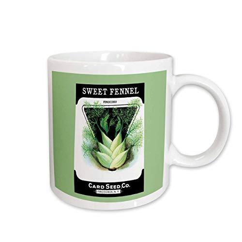 3drose Sweet Fenchel Pinocchio Karte Seed Company Fredonia (NY Tasse aus Keramik, 15-ounce
