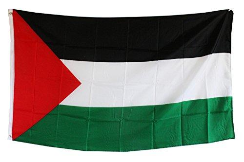 Creation Gross Fahne Flagge Palästina 0,90m x 1,50m mit Metallösen zum Aufhängen (0520810)
