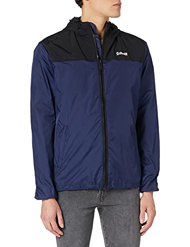 Schott NYC Impermeable A Capuche Giacche, Royal Blue, 3XL Uomo