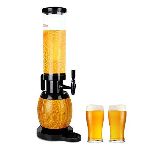 Dispensador de Torre de Cerveza de 3L, dispensador de Bebidas con Tubo de Hielo y Luces LED Que Mantienen Las Bebidas heladas, Fiestas y días de Juego, Accesorios para Bares en el Hog