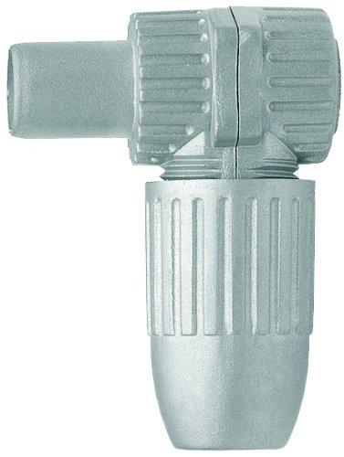 Axing CKS 4-00 IEC-Winkelstecker, Koax-Stecker hochgeschirmt im Vollmetall Gussgehäuse (1 Stück)