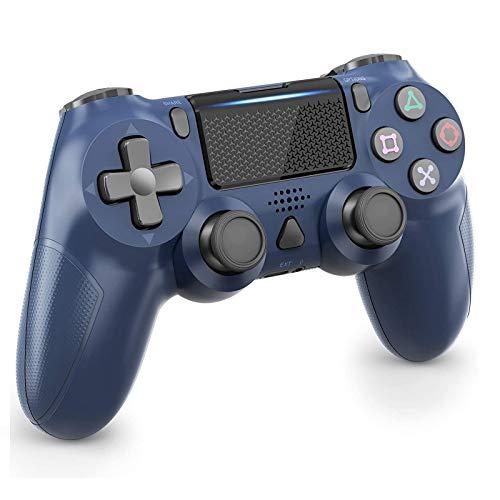 Manette sans Fil pour PS4 Manette pour Playstation 4 Gamepad pour PS4/ PS4 Slim/ PS4 Pro Console avec Double Vibration Moteur, Bleu