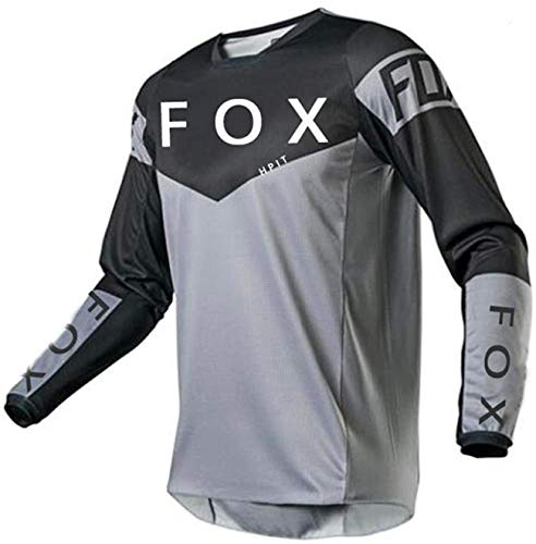 MLB Jersey Hombre, MTV Shirt Large, Jerseys de Descenso para Hombres Hpit Fox Mountain Bike MTB Camisas Offroad Dh Motorcycle Jersey Motocross Sportwear Ropa Fxr Bike M
