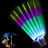 Ulikey Espada Láser de Juguete, 6 Piezas Juguete de Luminosos, Fiesta Luminoso Juguetes, Juguetes Luminosos con LED, LED Niños Fiesta Luminoso Juguetes, Cumpleaños para Fiestas Favores