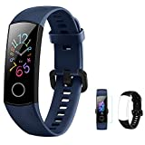 <span class='highlight'>HONOR</span> <span class='highlight'>Band</span> 5 <span class='highlight'>Fitness</span> Tracker Heart Rate Monitor AMOLED 0.95 Inch Smart Watch 5ATM Waterproof Bluetooth 4.2 (Blue)