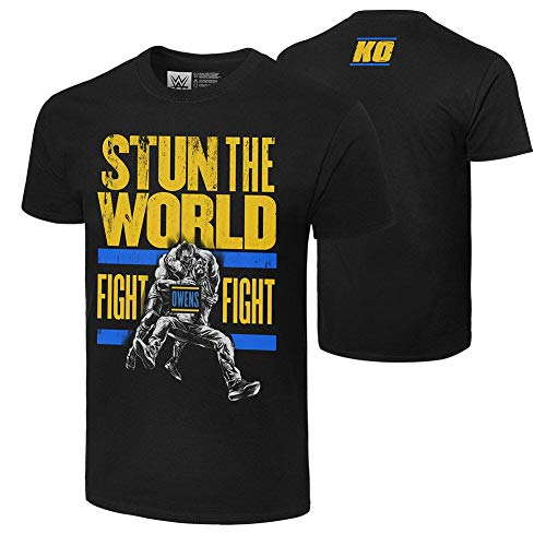 WWE Authentic Wear Kevin Owens Stun The World T-Shirt Black Extra Large