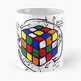 Rubik Retro Puzzle Game Vintage Rubiks Cube 3X3 Migliore Tazza da caffè Regalo 11 oz