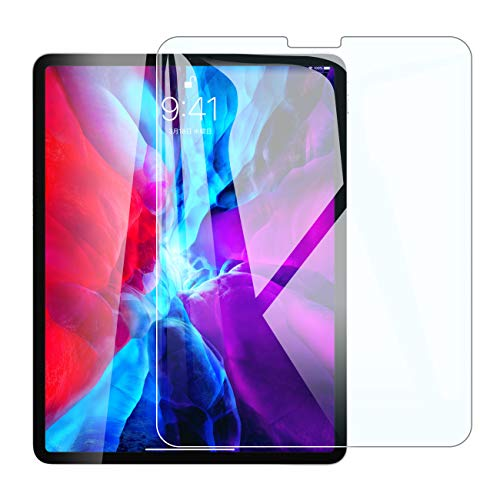 iPad Pro 12.9 ガラスフィルム (2021/2020/2018)用 Face IDに対応 指紋防止 3D タッチ 気泡ゼロ 硬度9H 飛散防止 液晶保護フィルム 第3/4世代対応