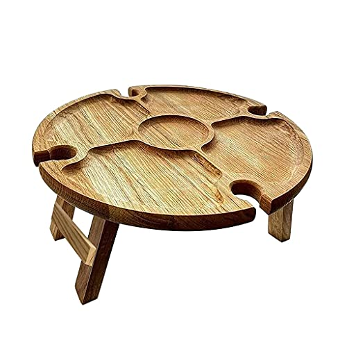 SweetWU Mesa de picnic portátil – Mesa de camping al aire libre vino Césped picnic al aire libre portátil estante de vino muebles de jardín mesas de camping equipo